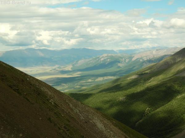 панорама при подъеме на перевал Учитель