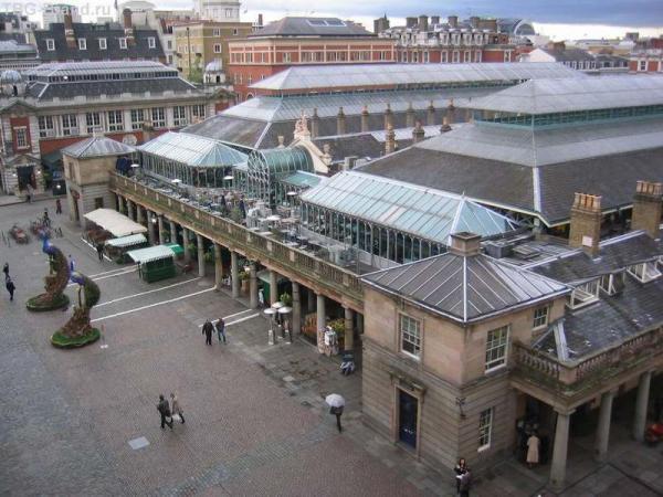 Вид на рынок Covent Garden с балкона Королевской оперы