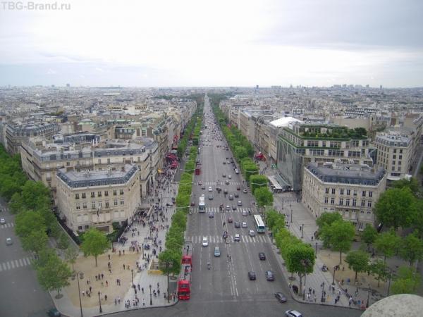 Вид с Триумфальной арки