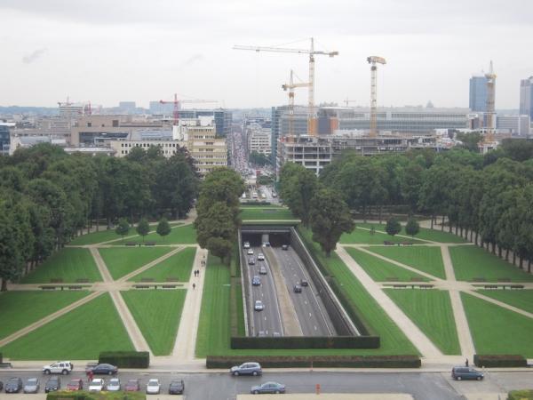 Вид на город со смотровой площадки музея армии