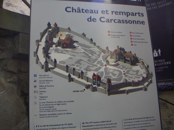 Каркасон, план крепости