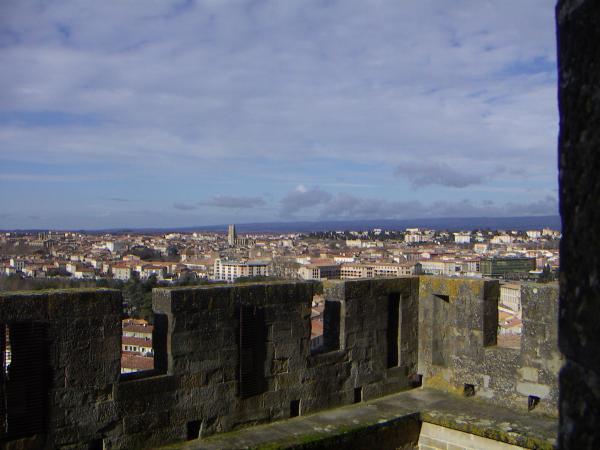 Каркасон, вид на город из крепости