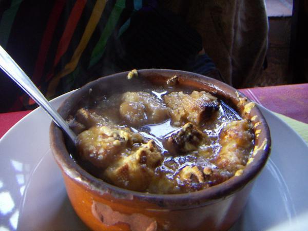 Каркасон-ресторан, луковый суп