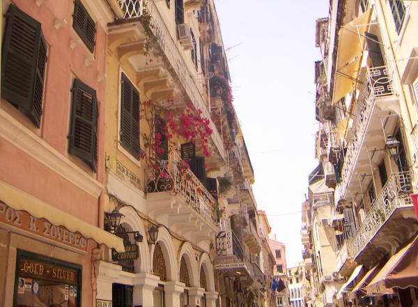 КЕРКИРА. Улицы и дома как в Италии