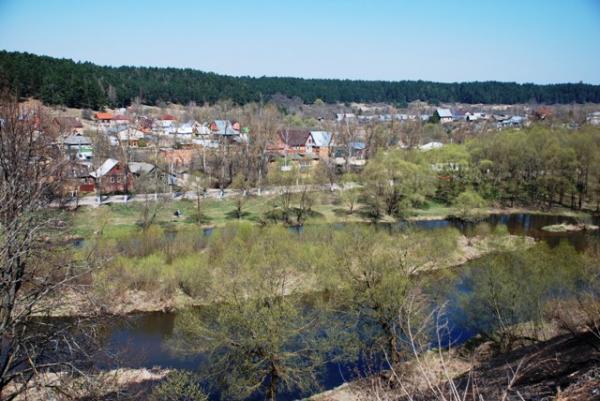 Вид на окрестности Боровска со стороны старообрядческой женской обители