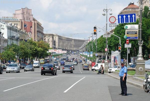 Крещатик - абсолютно европейская улица:)