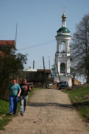Улица Плеса. Варваринская церковь.