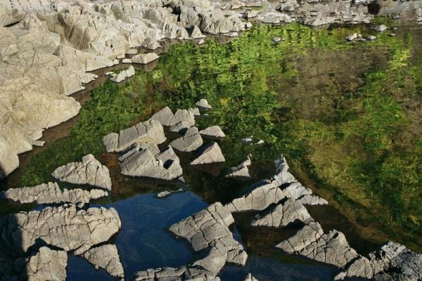 Кубики застывшей лавы
