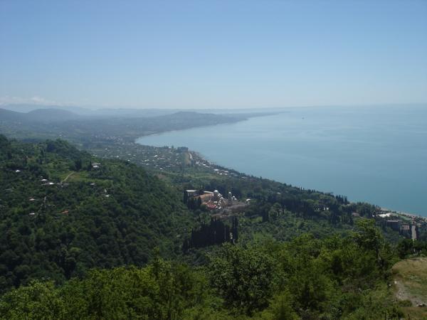 Вид на Новый Афон с Иверской горы