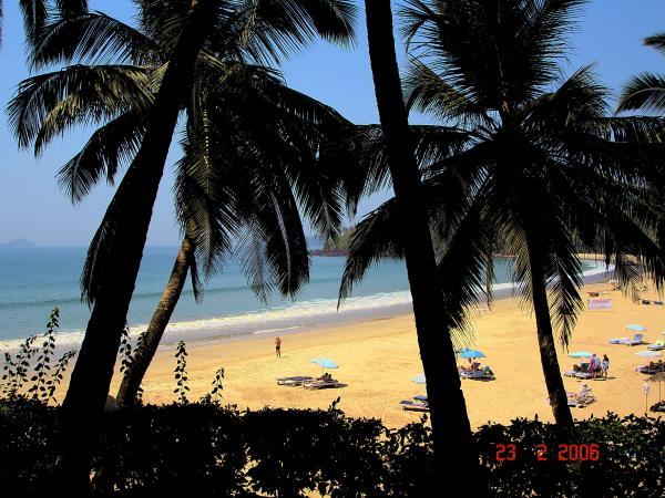 Пляж центрального Гоа