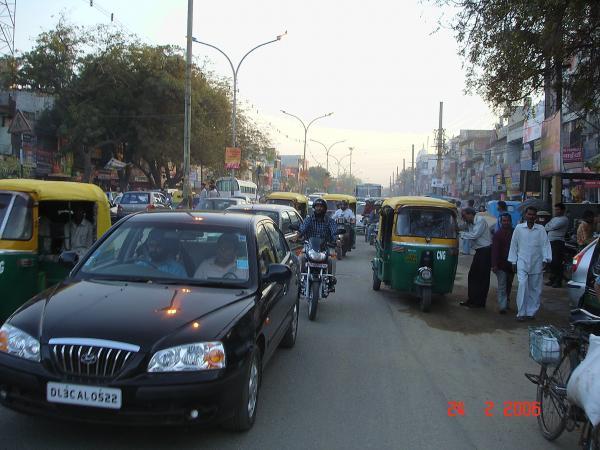На улицах Дели