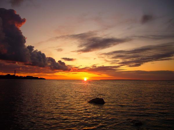 Закат на Балтийском море.