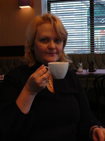 мы с мамой нашли замечательное кафе!