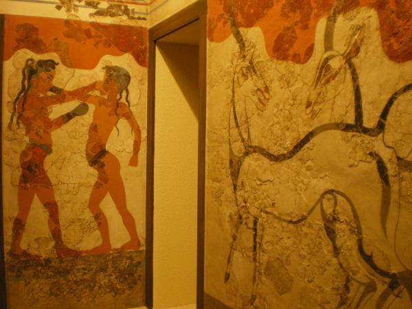 Фрески с острова Санторини
