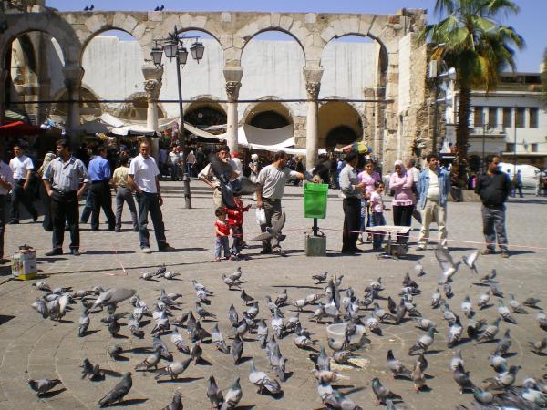 Площадь перед мечетью Омейядов в Дамаске