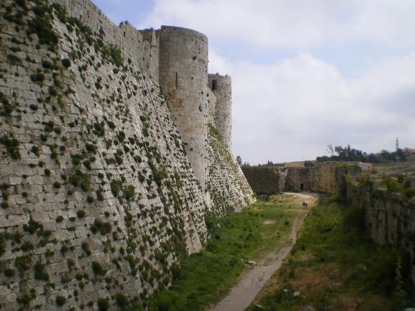 Внутренние стены Крак де Шевалье