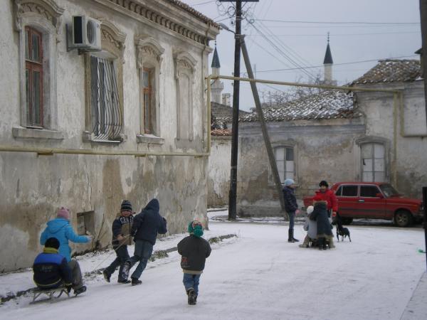 Снег в Евпатории