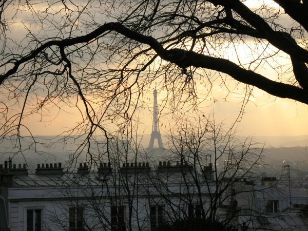 Париж вечерний
