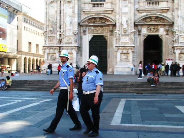 Миланские полицейские