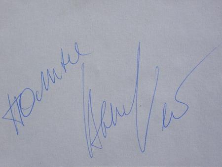 Автограф певицы