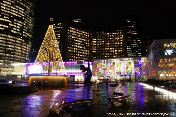 Париж, район Дефанс, декабрь-январь 2010