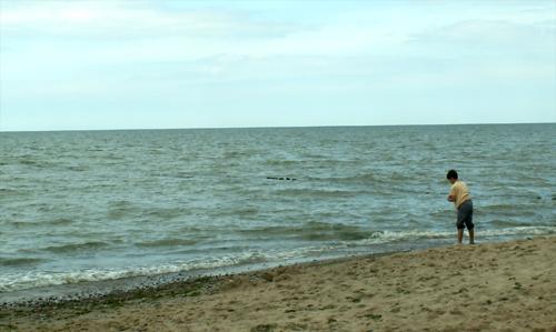 """Пляж при санатории """"Отрадное"""""""