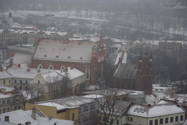 Вид с башни Гедеминоса на Вильнюс