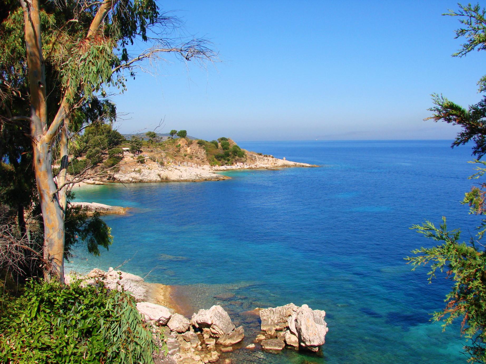 Пляж кассиопи на корфу фото