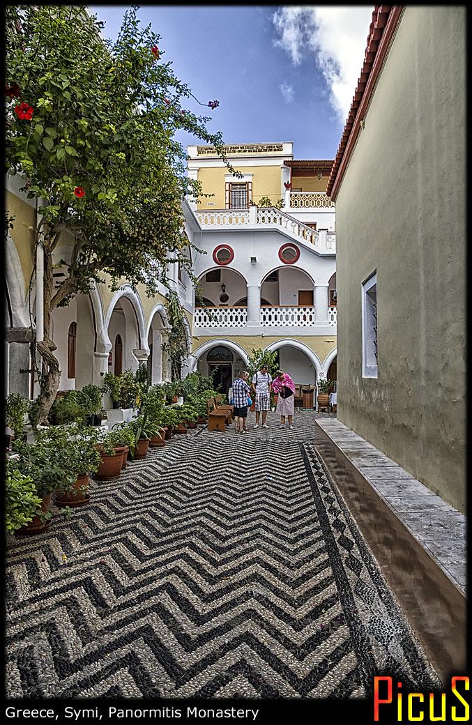Greece, Symi, Panormitis Monastery. Внутри.
