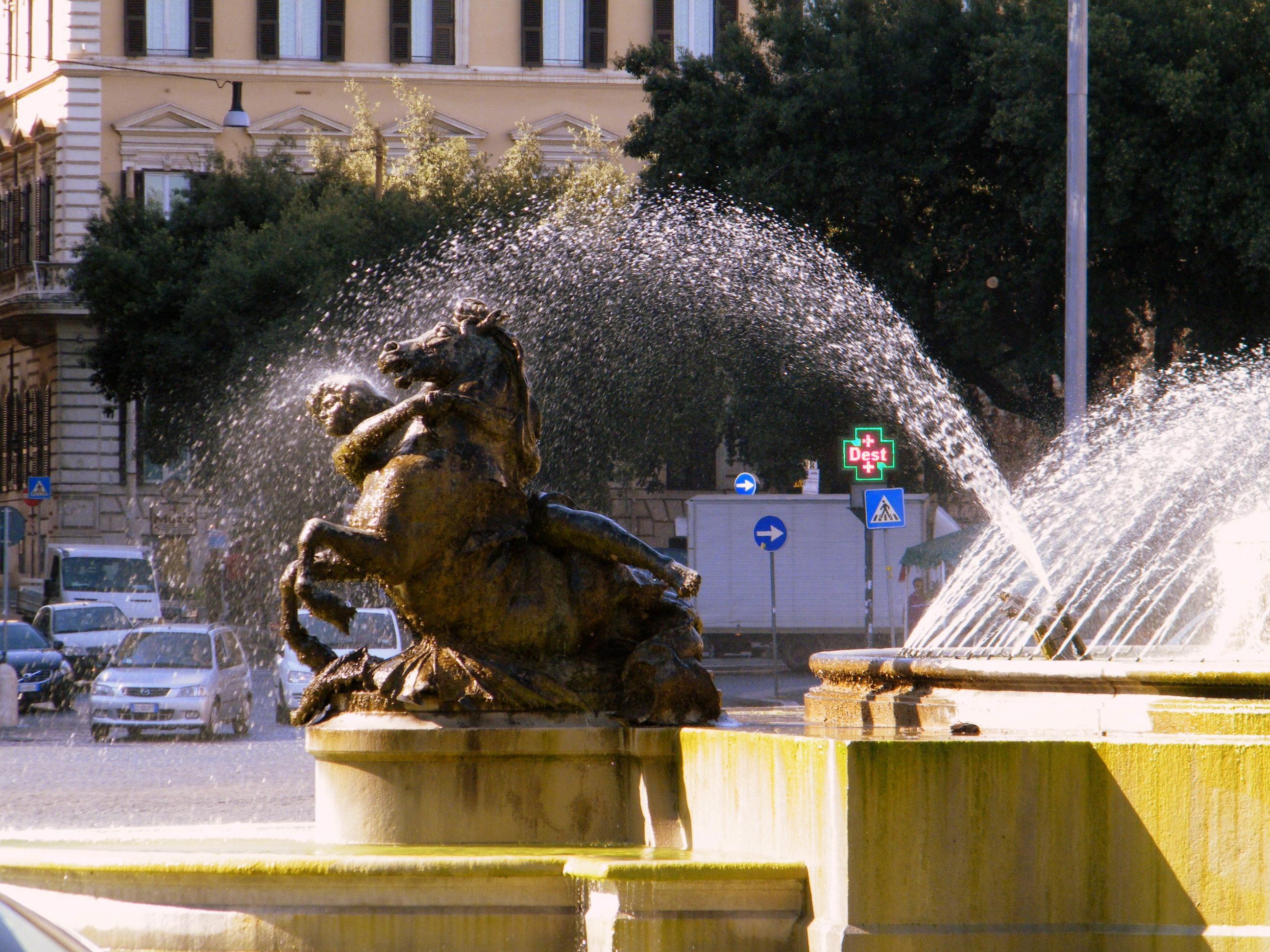 Рим в брызгах фонтанов