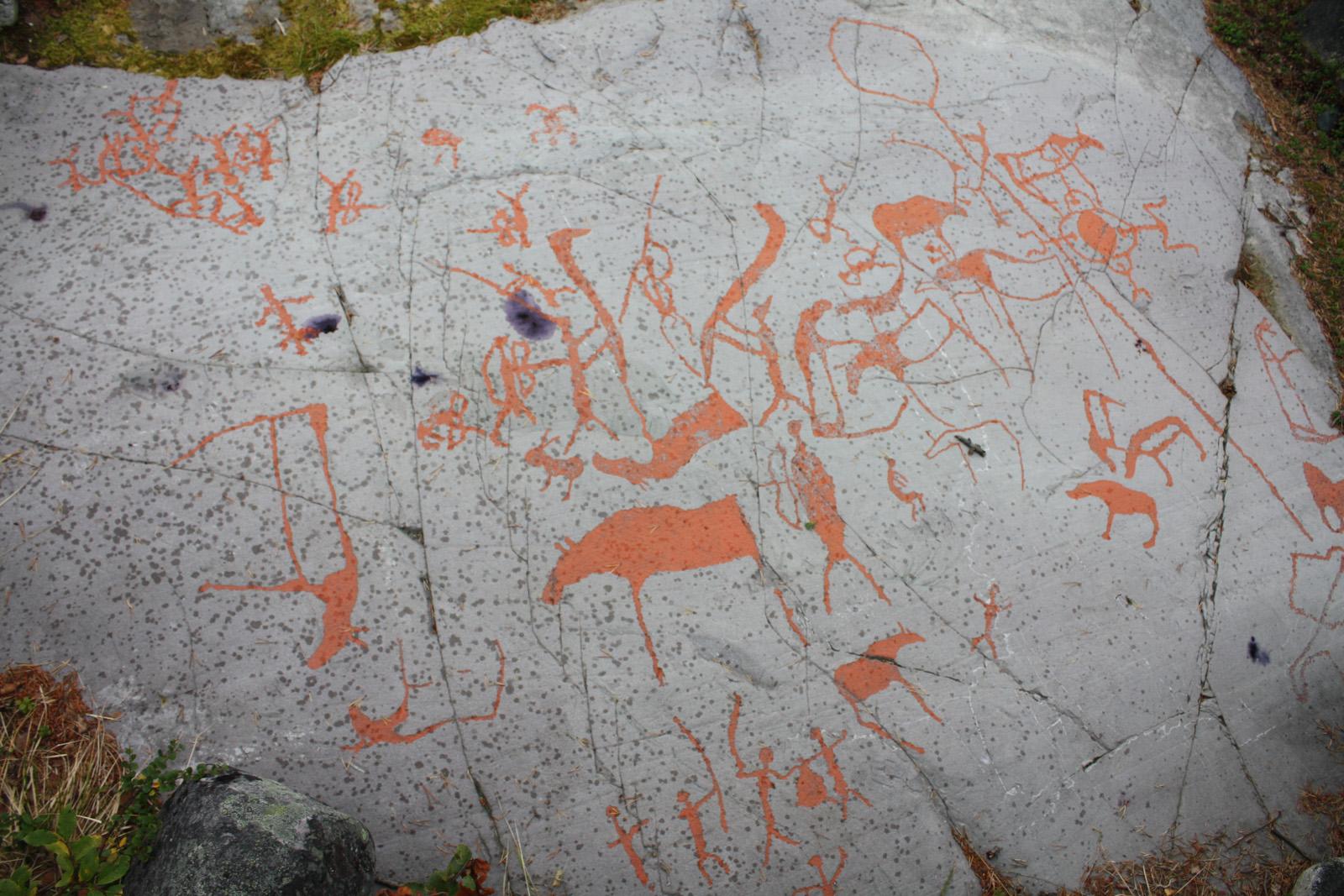 Красный петроглиф, или человек с копьем