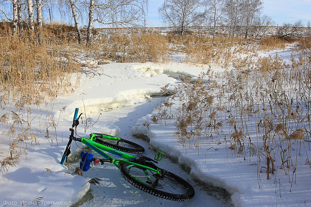 Вдоль реки Утяк. Зимняя велопрогулка.