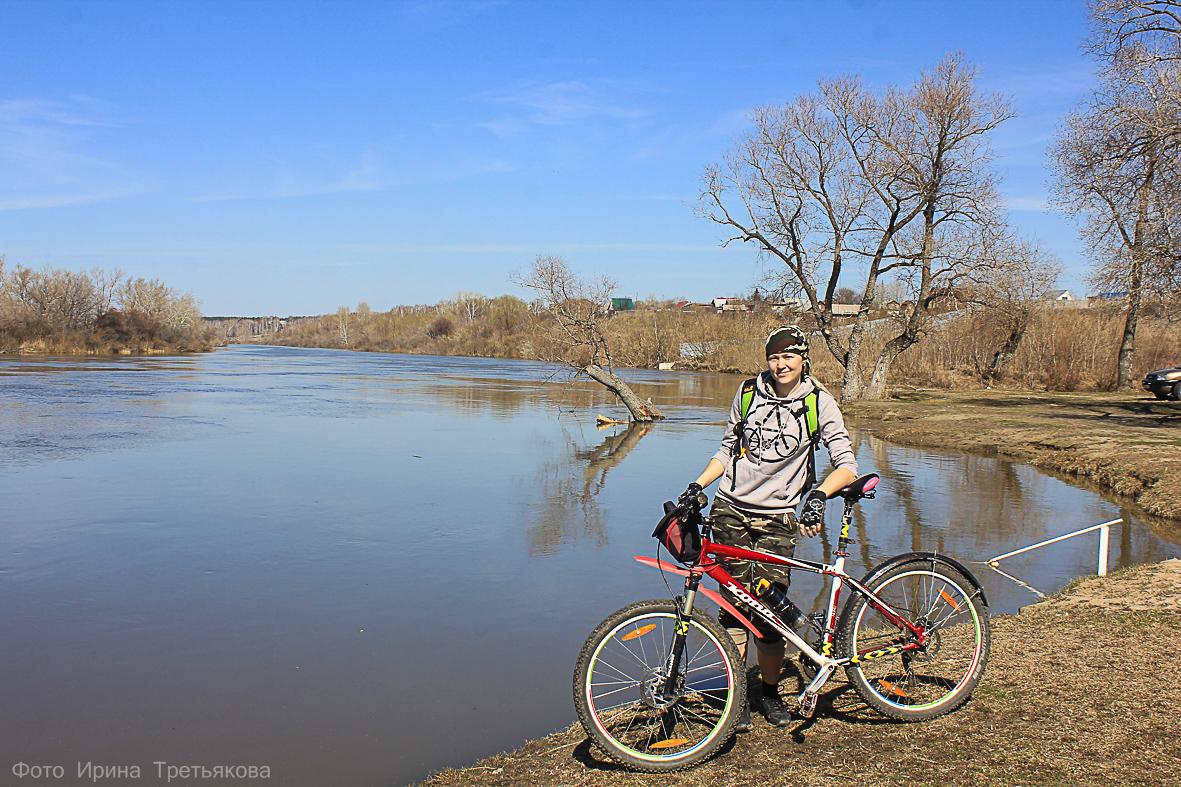 Весенняя велопрогулка. Разминка. Лаптево. Курганская область.