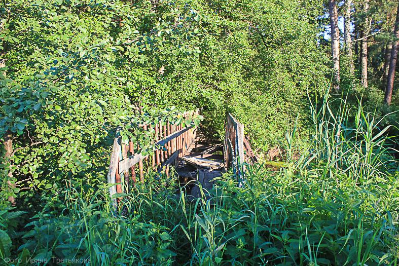 Старая мельница на реке Ик